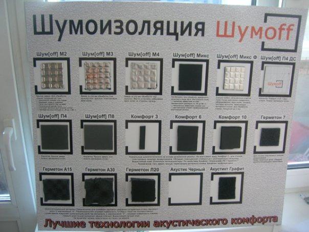 Материалы используемые для шумоизоляции