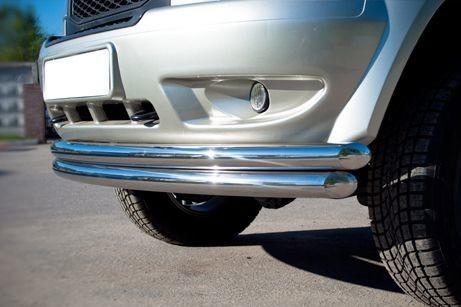 Защита переднего бампера авто