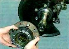 Снимаем ступицу переднего колеса
