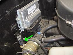 Расположение под капотом авто