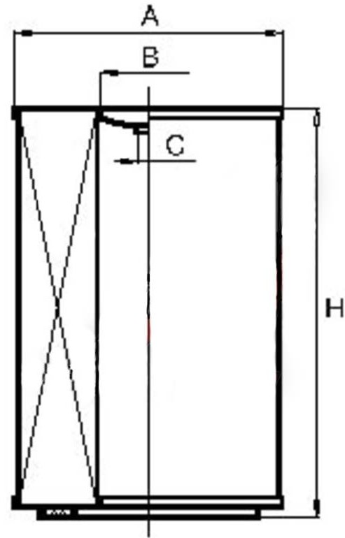 Размеры фильтрующего элемента