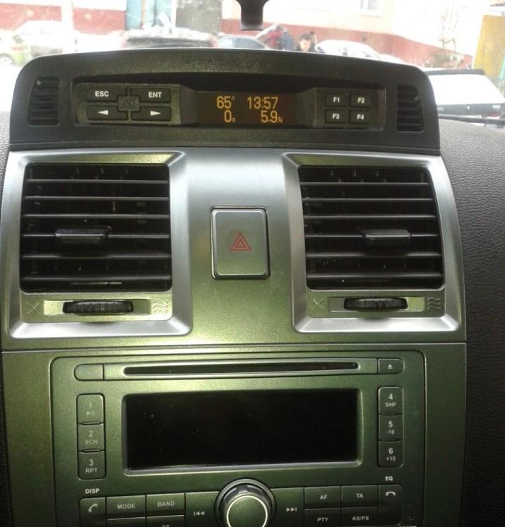 Расположение на авто