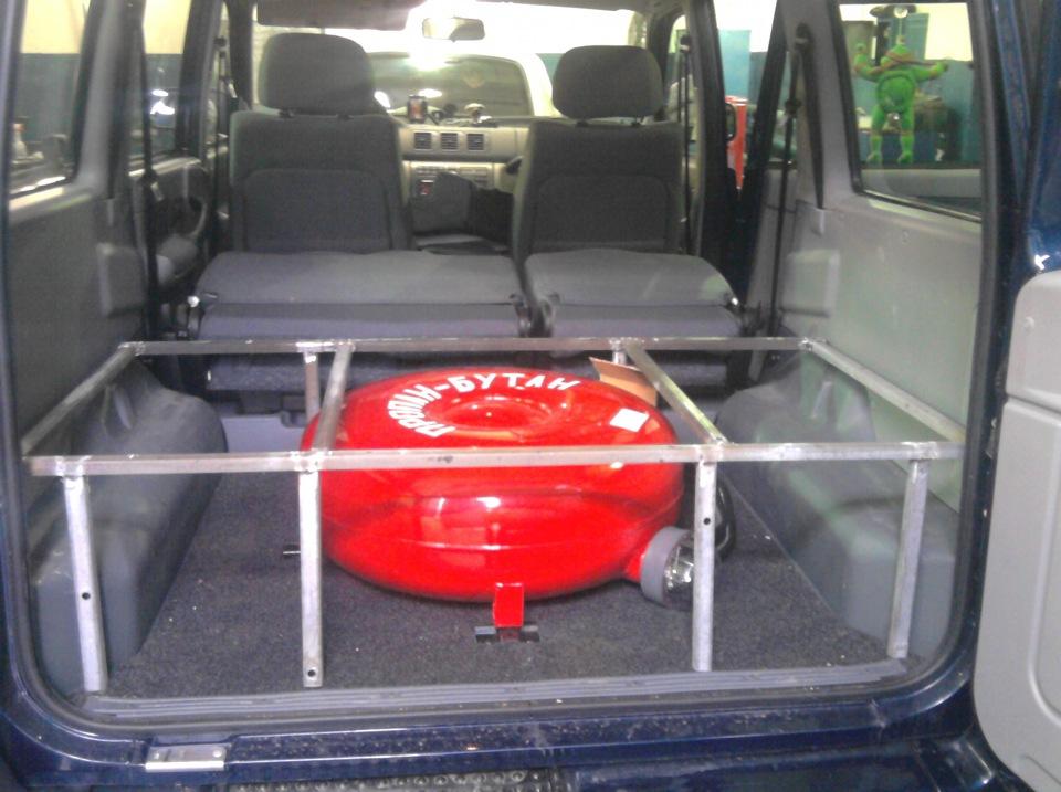 Установка балона в багажнике