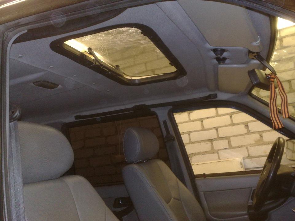Вид на изделие изнутри автомобиля