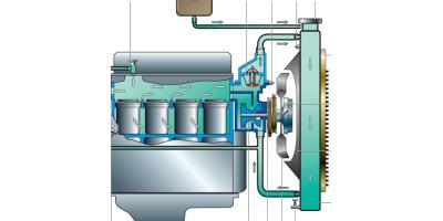 Схематичное изображение системы охлаждения