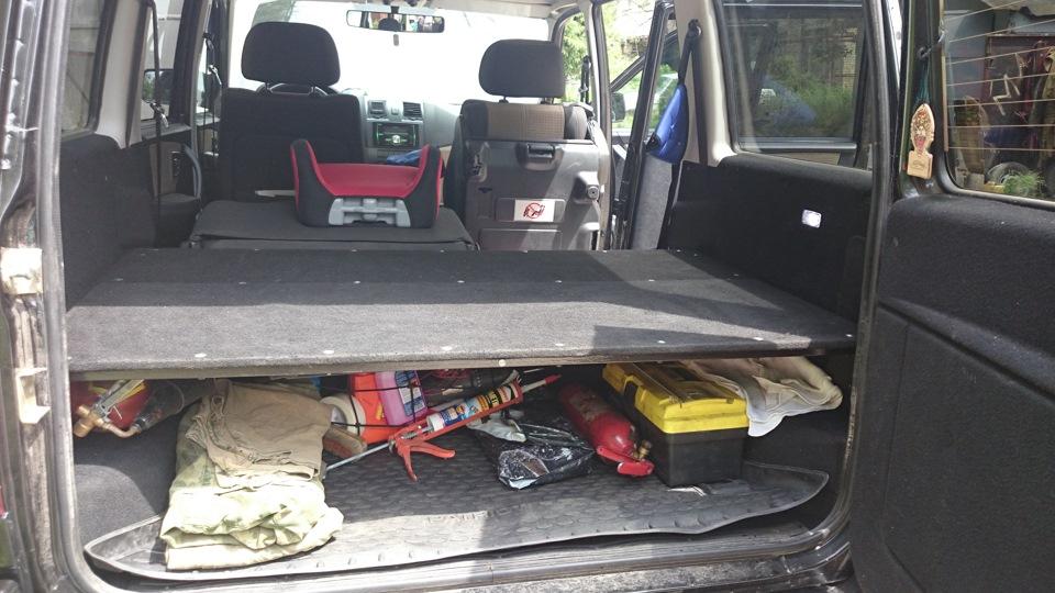 Конструкция полки в багажнике