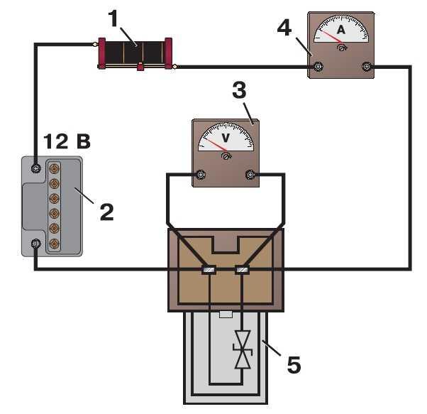 Схема для проверки устройства