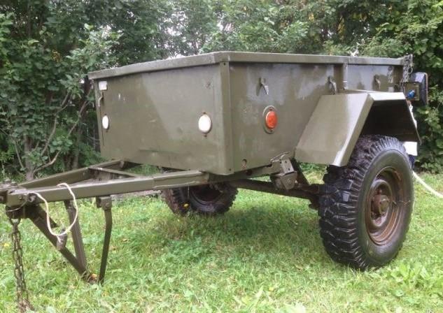 Военный вариант прицепа, готовый для модернизации