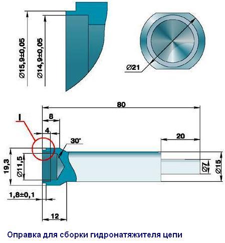 Оправка для зарядки натяжителя