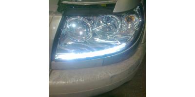 Ходовые огни вмонтированные в фару авто