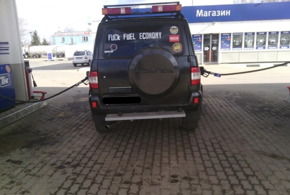 Уаз патриот потребление бензина