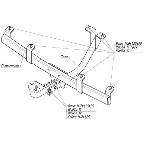 Схема установки фаркопа