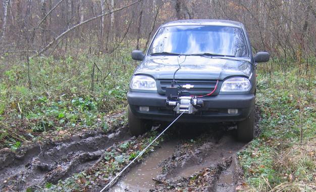 Вытаскивание машины лебедкой